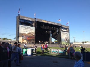 Chevy Main Stage. You could here the music from this stage quite a ways away.