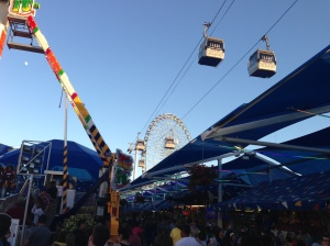 The gondola ride over the midway