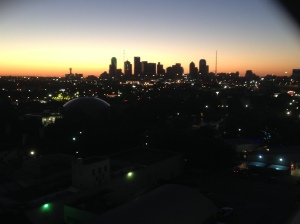 Dallas at sunset from the Texas Star